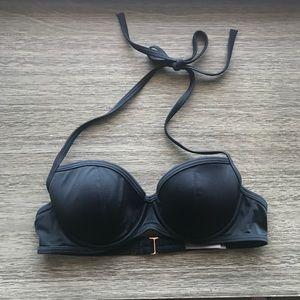 Victoria's Secret Swim - Black Halter Push Up VS Bikini Top